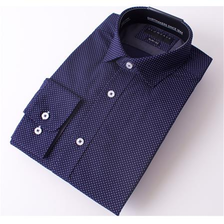 Enlarge  Gloweave Mens THE ESSENTIAL PIN DOT PRINT 1743L NAVY