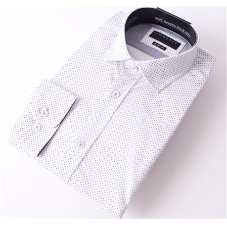 Enlarge  Gloweave Mens THE ESSENTIAL PIN DOT PRINT 1743L White Soft Pack