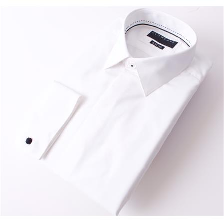 Gloweave THE OCCASIONS FLY FRONT SHIRT DOBBY WEAVE 1775L colour: IVORY