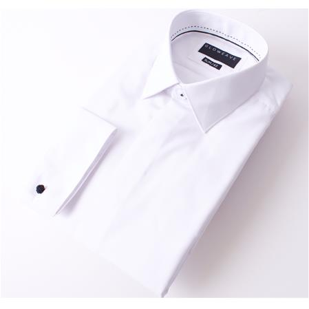 Enlarge  Gloweave Mens THE OCCASIONS FLY FRONT SHIRT 1775L WHITE