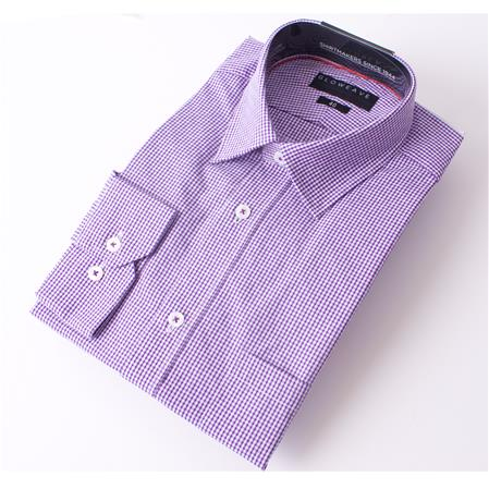 Enlarge  Gloweave Mens THE ESSENTIAL DOBBY GINGHAM 1783L PURPLE