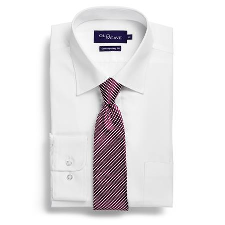 Gloweave Career Plain Polplin 1272L colour: WHITE