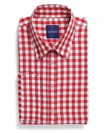Gloweave Career Red Oxford Gingham 1710L colour: RED