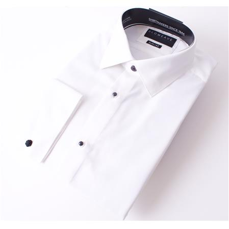 Enlarge  Gloweave Mens THE OCCASIONS STUD SHIRT CLASSIC TWILL 1777L IVORY