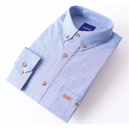 Enlarge  Gloweave Mens Mens Short Sleeve Classic Chambray Shirt (5045SN)  5045SN Blue