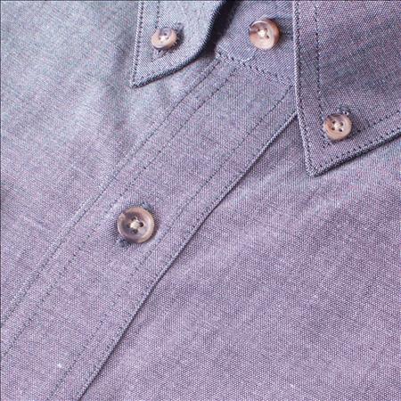 Enlarge  Gloweave Mens Mens Long Sleeve Classic Chambray Shirt (5045LN) 5045LN Black