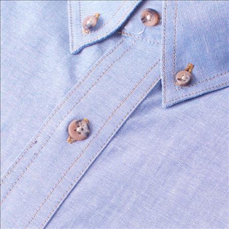 Enlarge  Gloweave Mens Mens Long Sleeve Classic Chambray Shirt (5045LN) 5045LN Blue