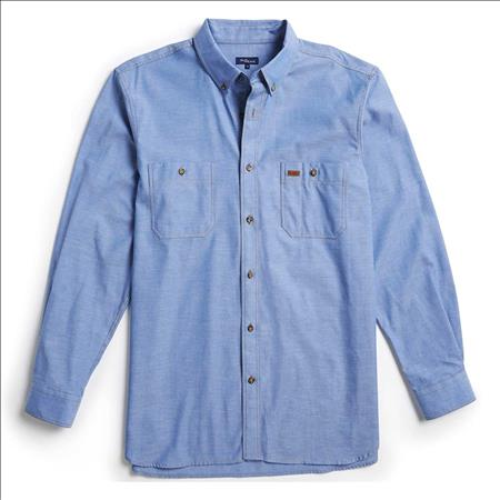 Enlarge  Gloweave Mens Mens Long Sleeve Classic Chambray Shirt (5045LN) 5045LN Blue