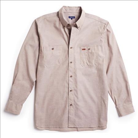 Enlarge  Gloweave Mens Mens Long Sleeve Classic Chambray Shirt (5045LN) 5045LN Sand